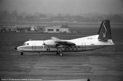 024 Fokker F-27-600 OO-SCA SABENA © Michel Anciaux