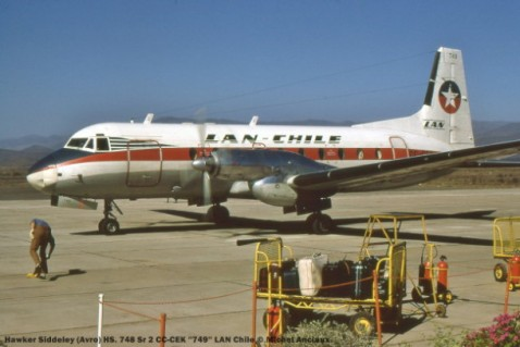 025 Hawker Siddeley (Avro) HS. 748 Sr 2 CC-CEK ''749'' LAN Chile © Michel Anciaux