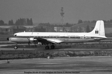028 Douglas DC-6A OT-CDA Belgian Air Force © Michel Anciaux