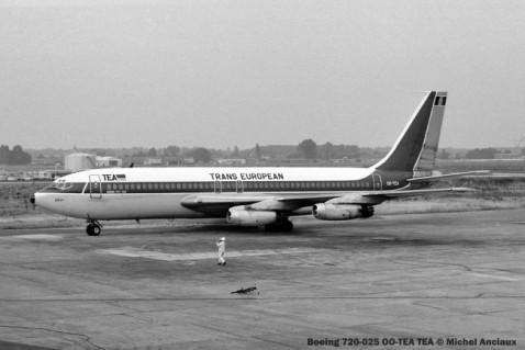 031 Boeing 720-025 OO-TEA TEA © Michel Anciaux