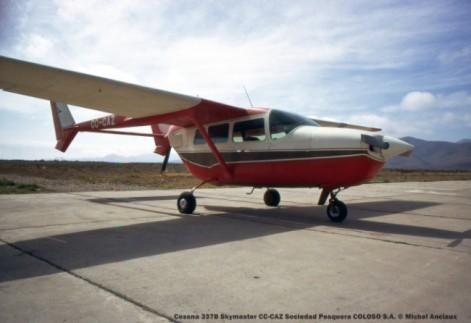 038 Cessna 337B Skymaster CC-CAZ Sociedad Pesquera COLOSO S.A. © Michel Anciaux