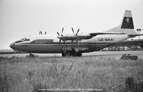 055 Antonov An-12B LZ-BAA Balkan-Bulgarian Airlines © Michel Anciaux