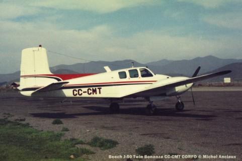 055 Beech J-50 Twin Bonanza CC-CMT CORFO © Michel Anciaux