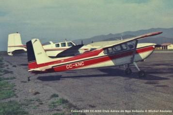 056 Cessna 180 CC-KNC Club Aereo de San Antonio © Michel Anciaux