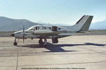 058 Cessna 421A CC-KKA Club Aereo de Carabineros de Chile © Michel Anciaux