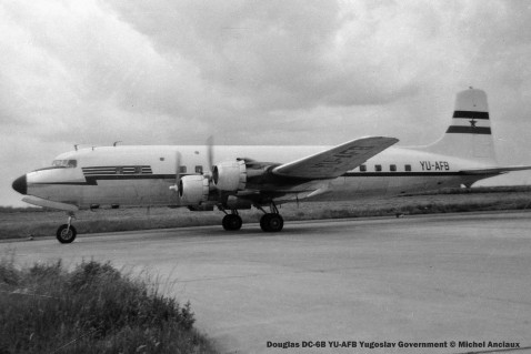 058 Douglas DC-6B YU-AFB Yugoslav Government © Michel Anciaux