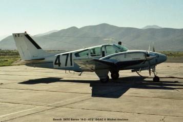 061 Beech 56TC Baron ''A-2 - 471'' DGAC © Michel Anciaux