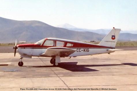 062 Piper PA-28R-200 Cherokee Arrow CC-KIG Club Aereo del Personal del Ejercito © Michel Anciaux