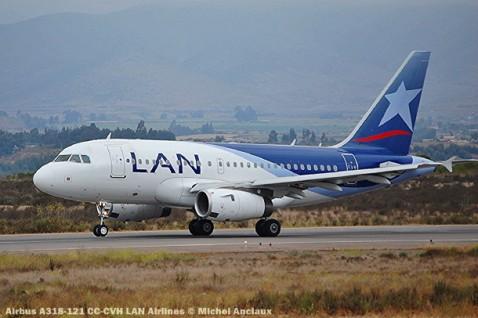 081 Airbus A318-121 CC-CVH LAN Airlines © Michel Anciaux