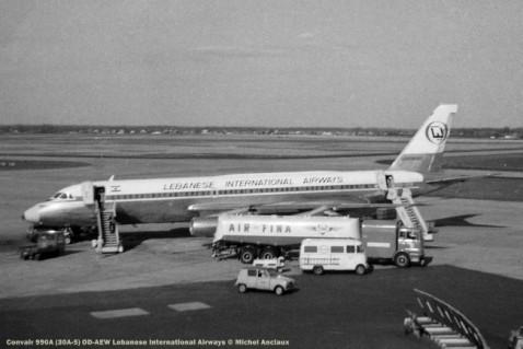 081 Convair 990A (30A-5) OD-AEW Lebanese International Airways © Michel Anciaux