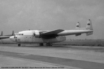 084 Fairchild C-119G CNA-MI ''53-7871'' Royal Moroccan Air Force © Michel Anciaux