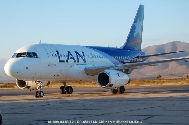 085 Airbus A318-121 CC-CVH LAN Airlines © Michel Anciaux