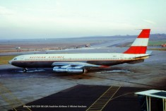 093 Boeing 707-329 OE-LBA Austrian Airlines © Michel Anciaux