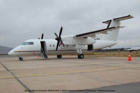 093 C-GBGC De Havilland Canada DHC-8-202 C-GBGC Ontario-Barrick Gold Corp © Michel Anciaux