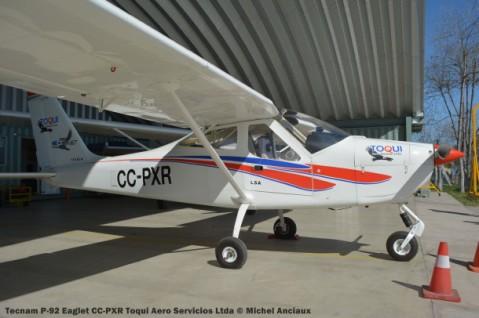 104 Tecnam P-92 Eaglet CC-PXR Toqui Aero Servicios Ltda © Michel Anciaux