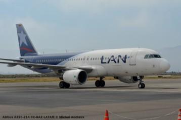 110 Airbus A320-214 CC-BAZ LATAM © Michel Anciaux