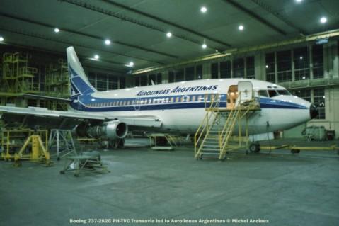 210 Boeing 737-2K2C PH-TVC Transavia lsd to Aerolineas Argentinas © Michel Anciaux