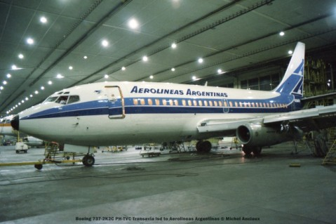 211 Boeing 737-2K2C PH-TVC Transavia lsd to Aerolineas Argentinas © Michel Anciaux