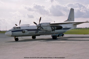 23 Antonov An-26 SP-LWA LOT Polish Airlines © Michel Anciaux