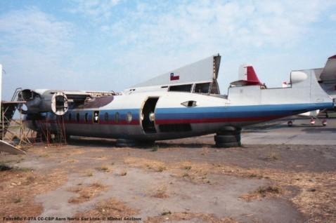012 Fairchild F-27A CC-CBP Aero Norte Sur Ltda. © Michel Anciaux