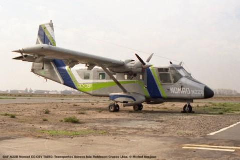 047 GAF N22B Nomad CC-CBV TAIRC- Transportes Aéreos Isla Robinson Crusoe Ltda. © Michel Anciaux