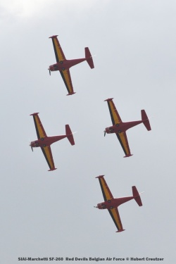 DSC_3367 SIAI-Marchetti SF-260 Red Devils Belgian Air Force © Hubert Creutzer