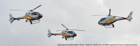 DSC_3560 Eurocopter EC-120B Colibri ''78-31'' ''78-20'' & ''78-25'' Patrulla ASPA Spanish Air Force © Hubert Creutzer