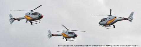 DSC_3560 Eurocopter EC-120B Colibri ''78-31'' ''78-20'' & ''78-25'' Patrulla ASPA Spanish Air Force © Hubert Creutzer