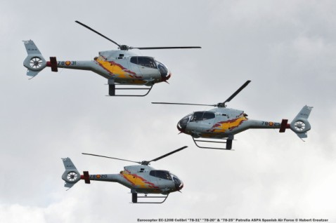 DSC_3563 Eurocopter EC-120B Colibri ''78-31'' ''78-20'' & ''78-25'' Patrulla ASPA Spanish Air Force © Hubert Creutzer