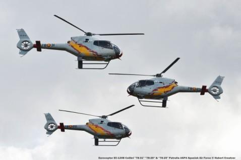 DSC_3563 Eurocopter EC-120B Colibri ''78-31'' ''78-20'' & ''78-25'' Patrulla ASPA Spanish Air Force © Hubert Creutzer