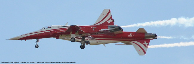 DSC_3730 Northrop F-5E Tiger II ''J-3087'' & ''J-3082'' Swiss Air Force Demo Team © Hubert Creutzer