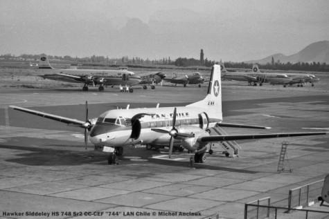 img049 Hawker Siddeley HS 748 Sr2 CC-CEF ''744'' LAN Chile © Michel Anciaux