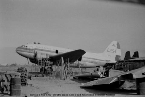 img087 Curtiss C-46D-5-CU CC-CDC Linea Aerea Sud Americana © Michel Anciaux