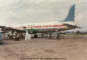 img215 Douglas DC-6B CC-CCD- ''401'' LAN Chile © Michel Anciaux