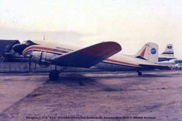 img700 Douglas C-47A 214 ''CC-CBX'' Direccion General de Aeronautica Civil © Michel Anciaux