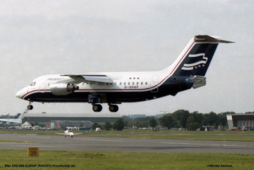 01 BAe-146-200 G-OHAP Presidential Airways © Michel Anciaux