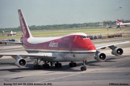 01 Boeing 747-124 HK-2000 Avianca in JFK © Michel Anciaux