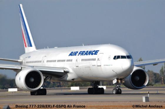 018 Boeing 777-228 (ER) F-GSPQ Air France © Michel Anciaux