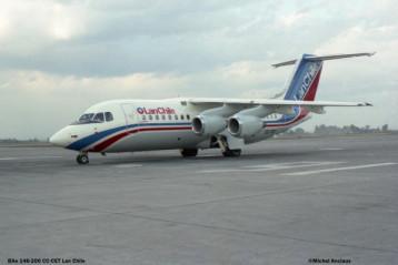 02 BAe-146-200 CC-CET LAN-Chile © Michel Anciaux