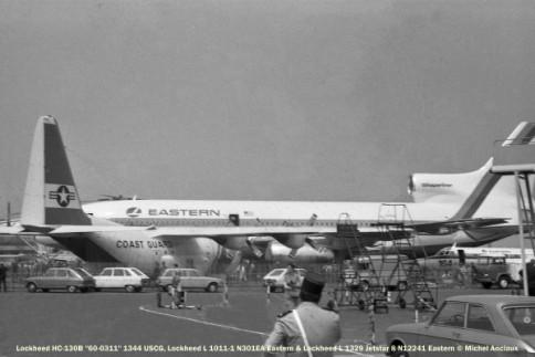 02 Lockheed HC-130B 60-0311 1344 USCG-Lockheed L 1011-1 N301EA Eastern-Lockheed L1329 Jetstar 8 N12241 Eastern © Michel Anciaux