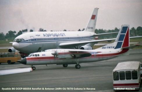 050 Ilyushin 86 CCCP-86054 Aeroflot & Antonov 24RV CU-T878 Cubana © Michel Anciaux