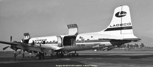 07 Douglas DC-6B CC-CFH LADECO © Michel Anciaux