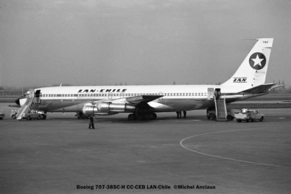 10 Boeing 707-385C-H CC-CEB LAN-Chile © Michel Anciaux