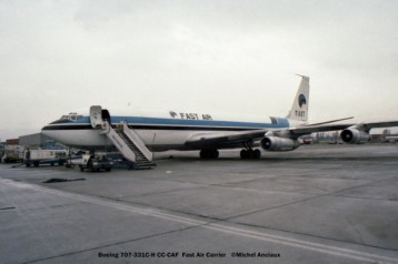 12 Boeing 707-331C-H CC-CAF Fast Air Carrier © Michel Anciaux