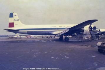 15 Douglas DC-6BF CC-CCI LASA © Michel Anciaux