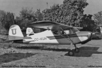 82 Cessna 140 CC-KUH rrg CC-PDT © Michel Anciaux