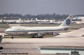89 Boeing 747-121 N736PA PAN AM © Michel Anciaux