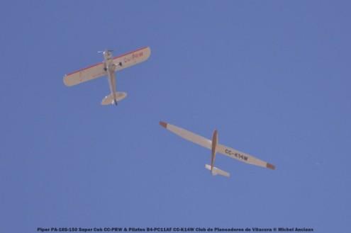 DSC_0259 Piper PA-18S-150 Super Cub CC-PRW & Pilatus B4-PC11AF CC-K14W Club de Planeadores de Vitacura © Michel Anciaux