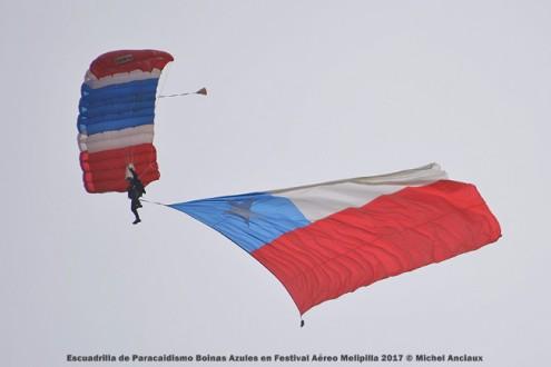 DSC_0424 Escuadrilla de Paracaidismo Boinas Azules en Festival Aéreo Melipilla 2017 © Michel Anciaux