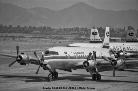img136 Douglas DC-6B CC-CAX LADECO © Michel Anciaux